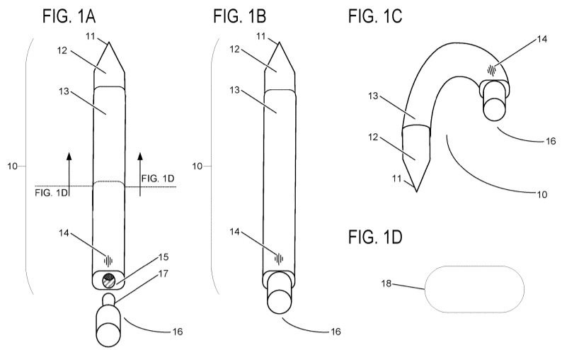 Surface Pen flexible patent