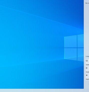 Windows 10 light desktop