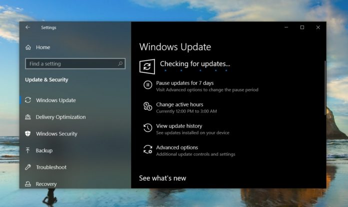 Windows Update in v1903