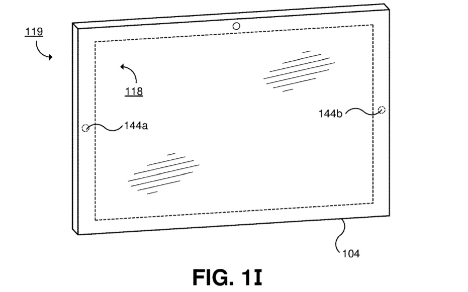 Dual-screen device patent