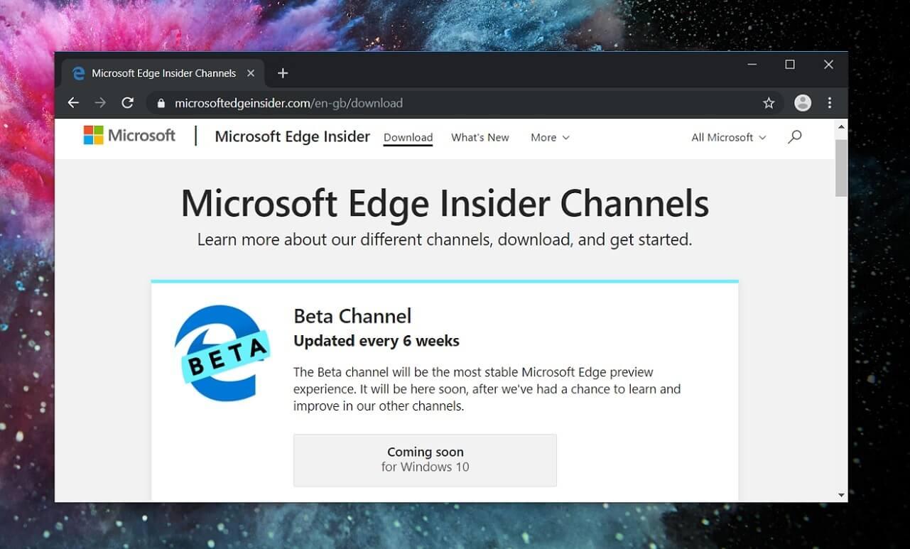Microsoft tests new improvements for Chromium on Windows 10