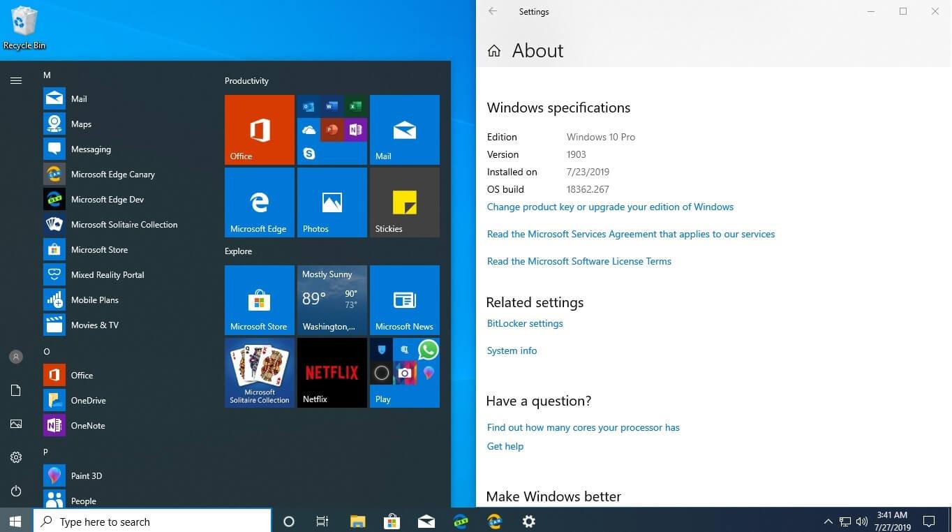 Microsoft Edge hidden