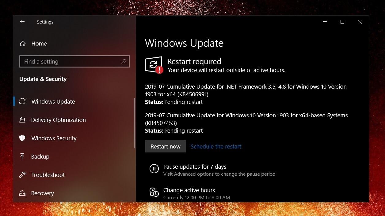 Windows 1903 update download