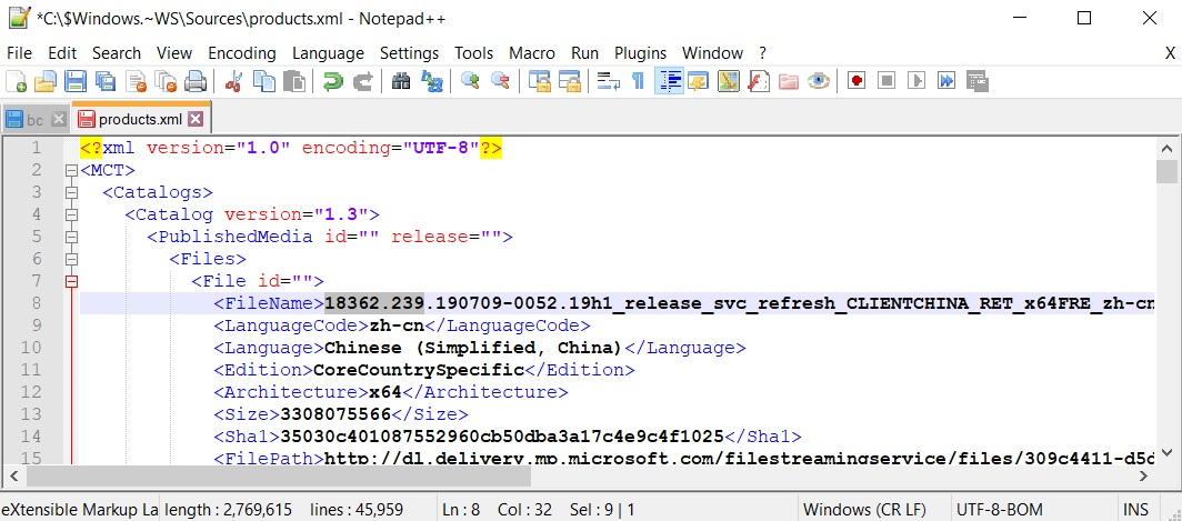 Windows 10 version 1903 MCT