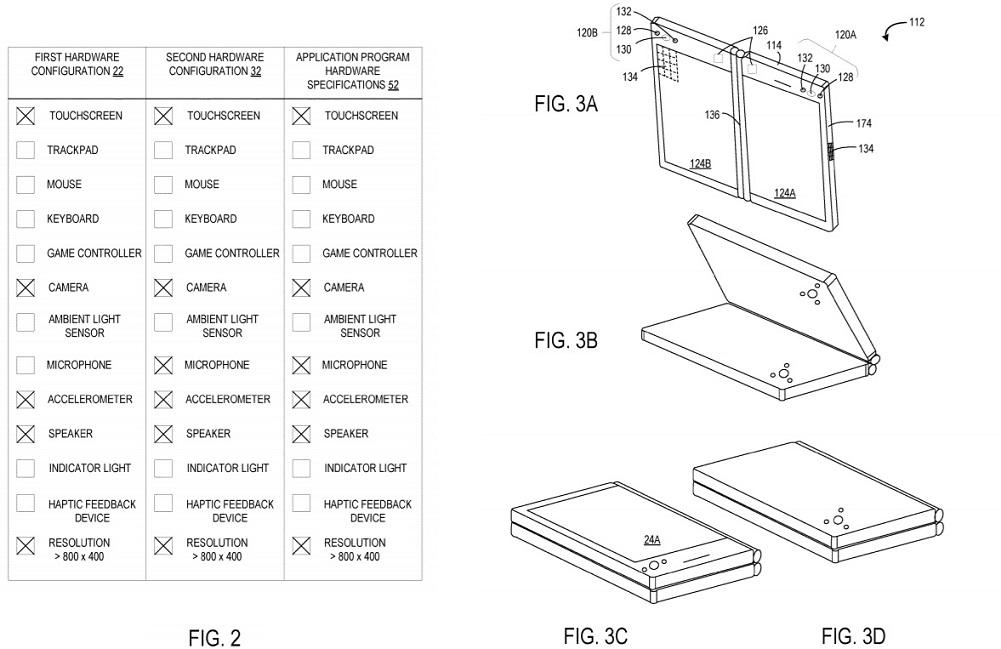 Microsoft foldable PC patent
