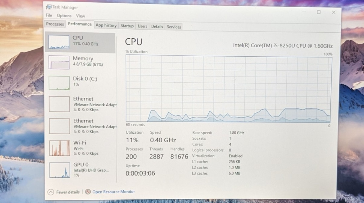 Surface Pro 6 CPU issue