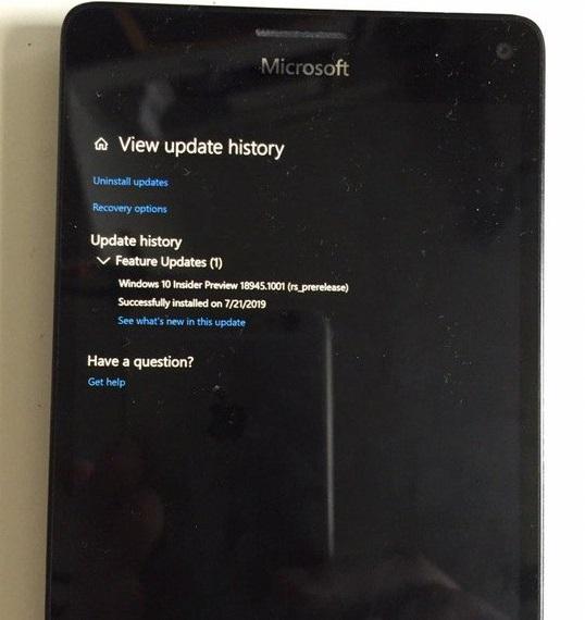Windows 10 20H1 on Lumia