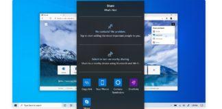 Windows 10 share dialog