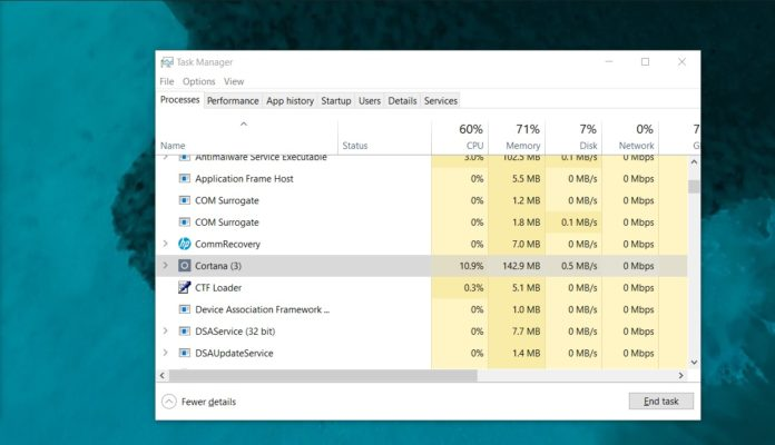 Windows Cortana usage