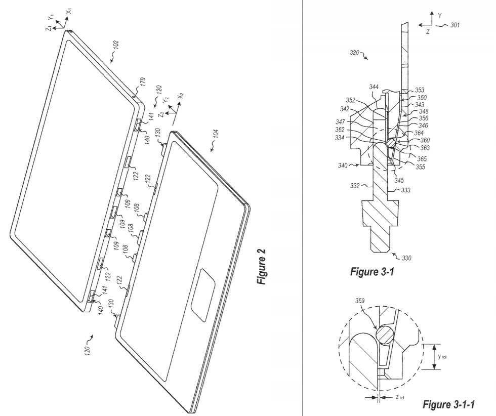 Surface hinge patent