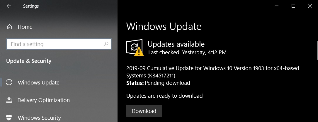 Windows 10 KB4517211