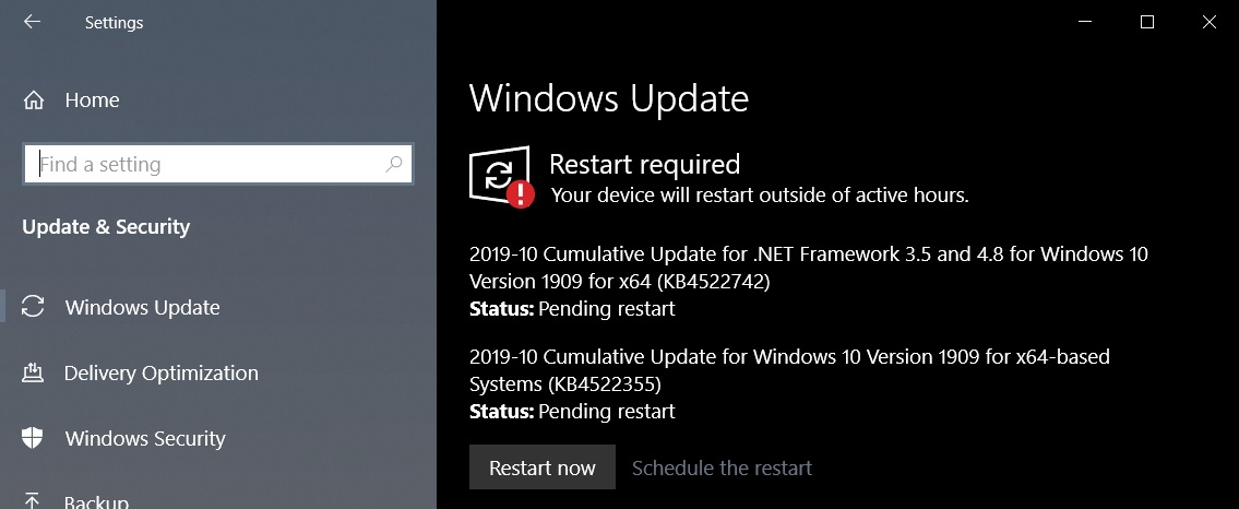 Windows 10 KB4522355