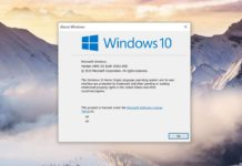 Windows 10 v1909