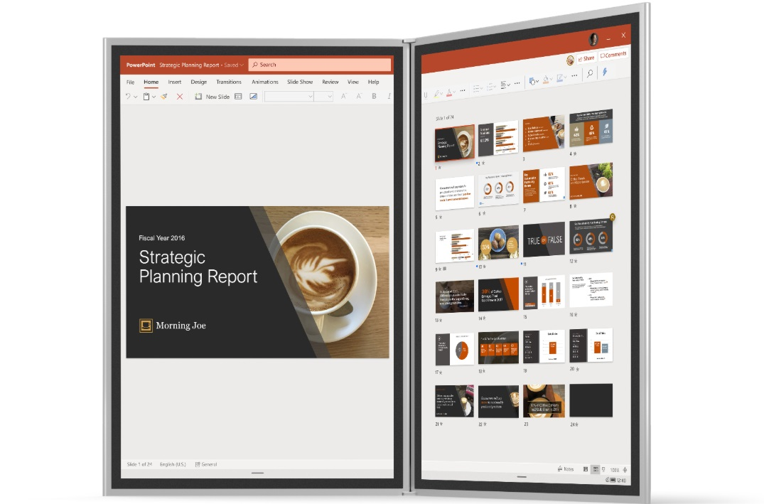 Windows 10X PowerPoint