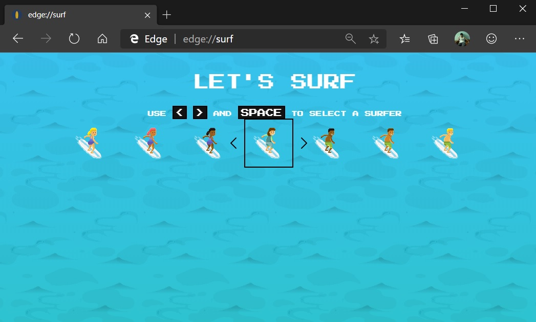 Edge Surf game
