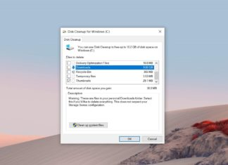 Windows 10 Disk Cleanup changes
