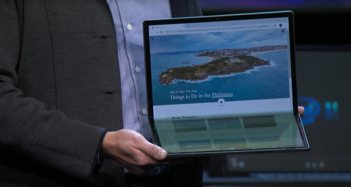 Intel foldable PC