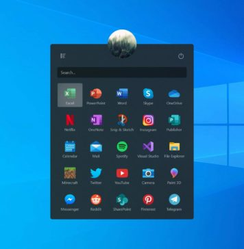 Start menu concept