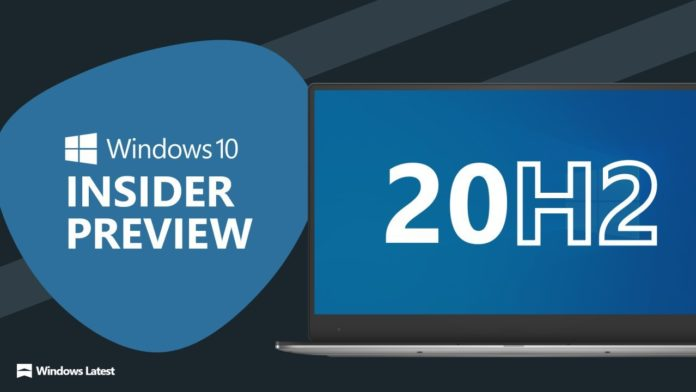 Windows 10 20H2 preview