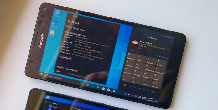 Windows 10 ARM for phone