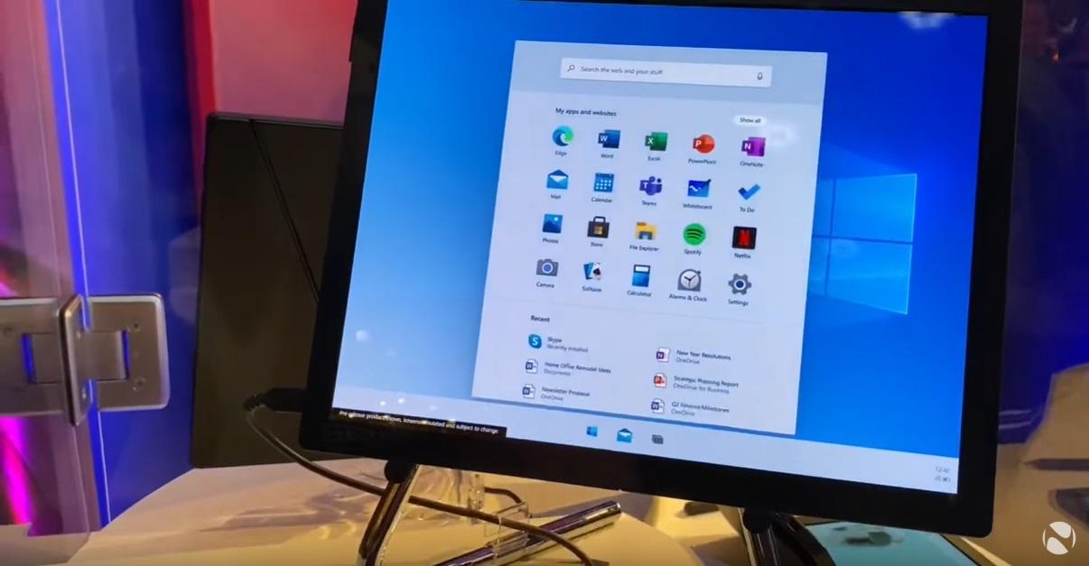Windows 10 X Start layout