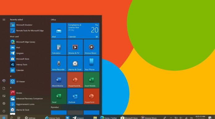 Windows 10 modern icons