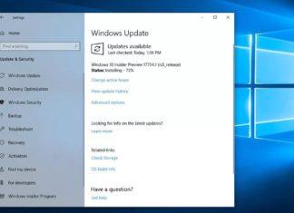 Windows 10 update page