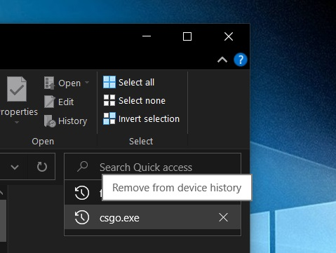File Explorer search bar