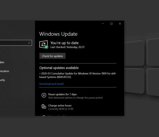 Windows 10 KB4541335 update