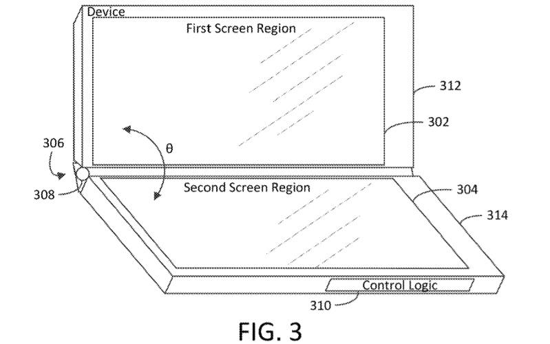 Three screen device
