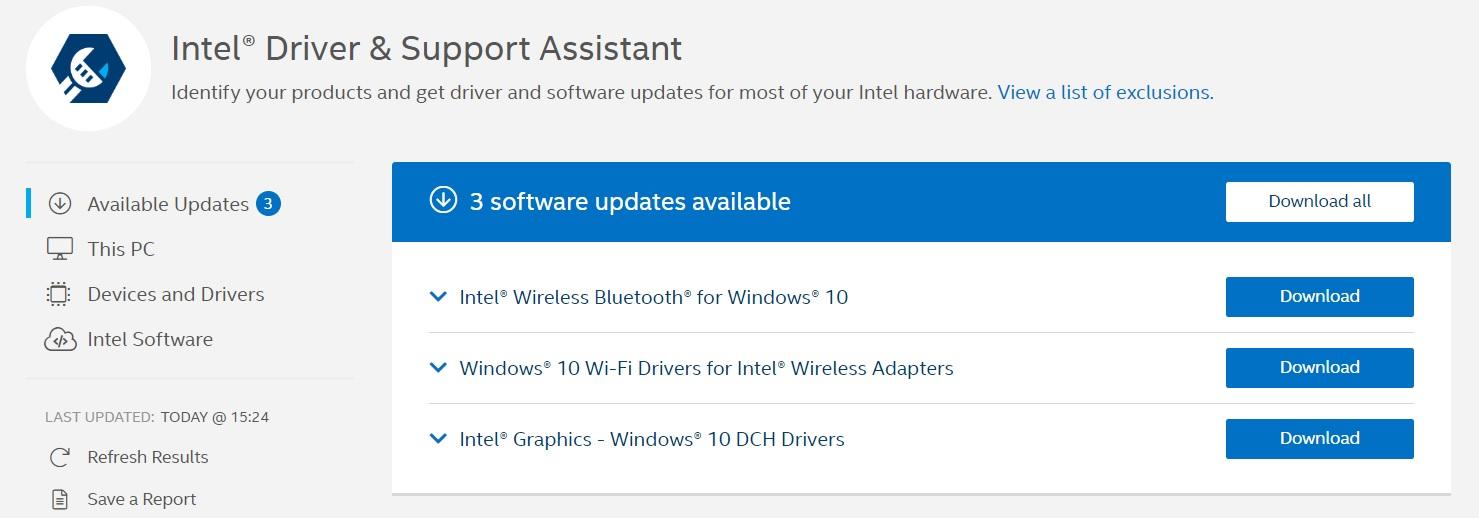 Intel Driver Assistant Tool