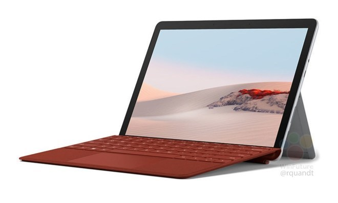 Surface Go 2 red render
