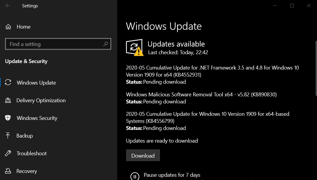 Windows 10 KB4556799