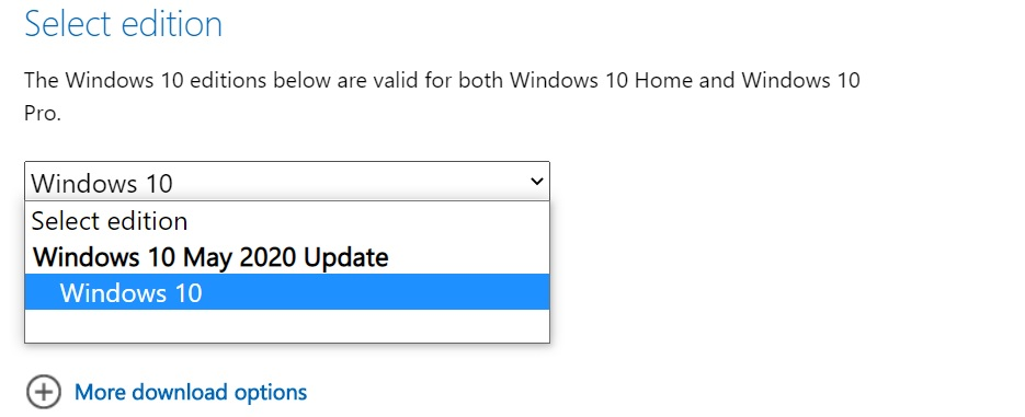 Windows 10 May 2020 Update ISO