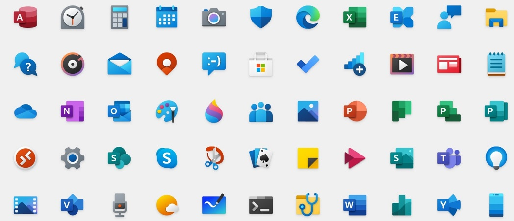Windows 10 new icons