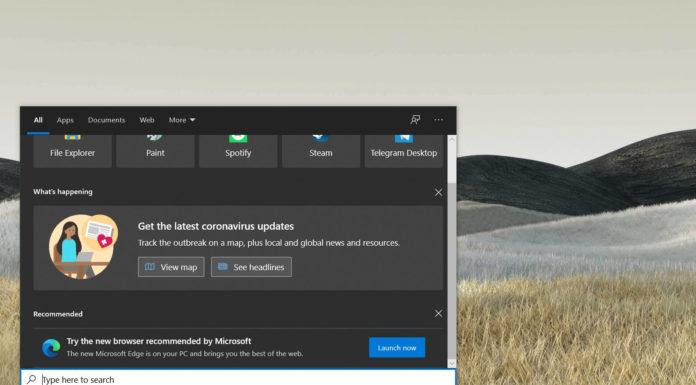 Windows Search ad