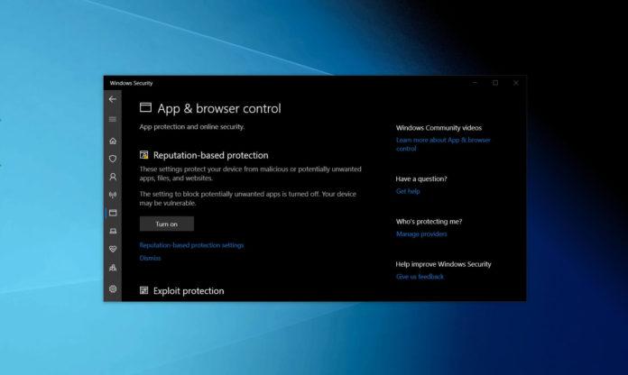 Windows Security app