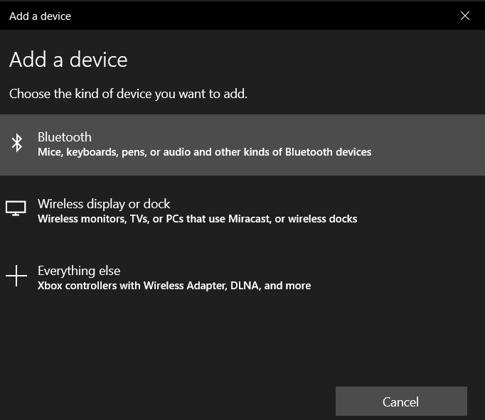 Add Bluetooth device