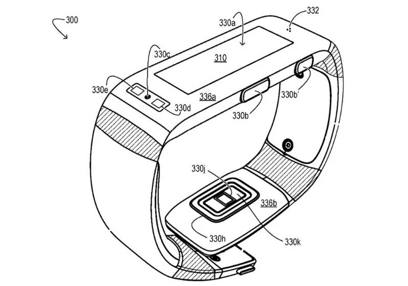 Microsoft fitness band patent