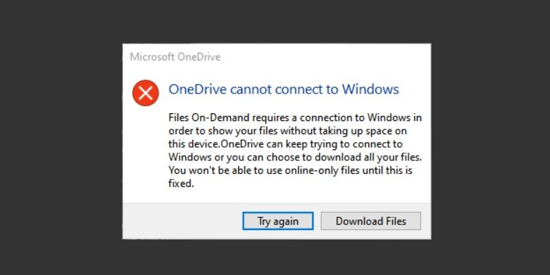 OneDrive error