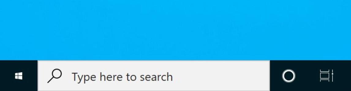 Smaller taskbar