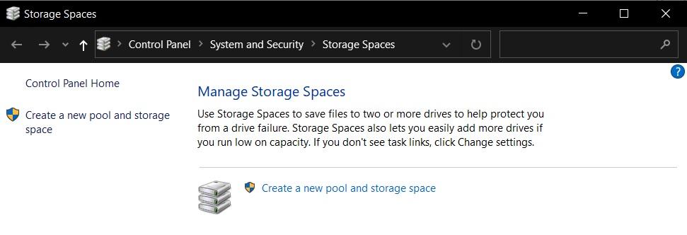 Storage Spaces on Windows