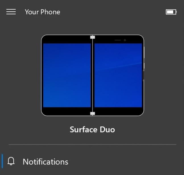 Surface Duo with Your Phone app
