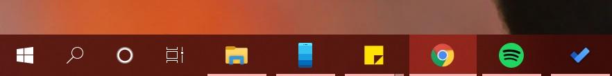 Taskbar spacing