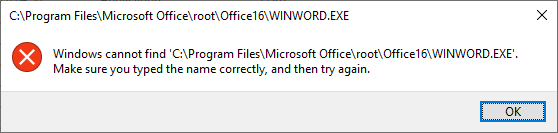 Windows app launch error
