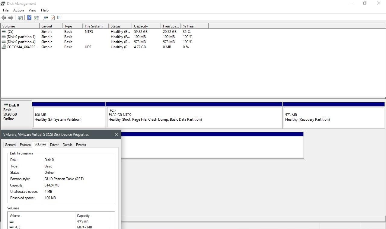Disk Management in version 2004