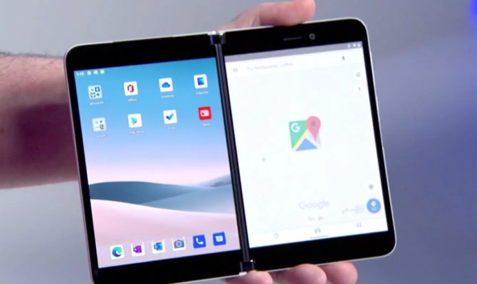 Surface Duo with Google Maps