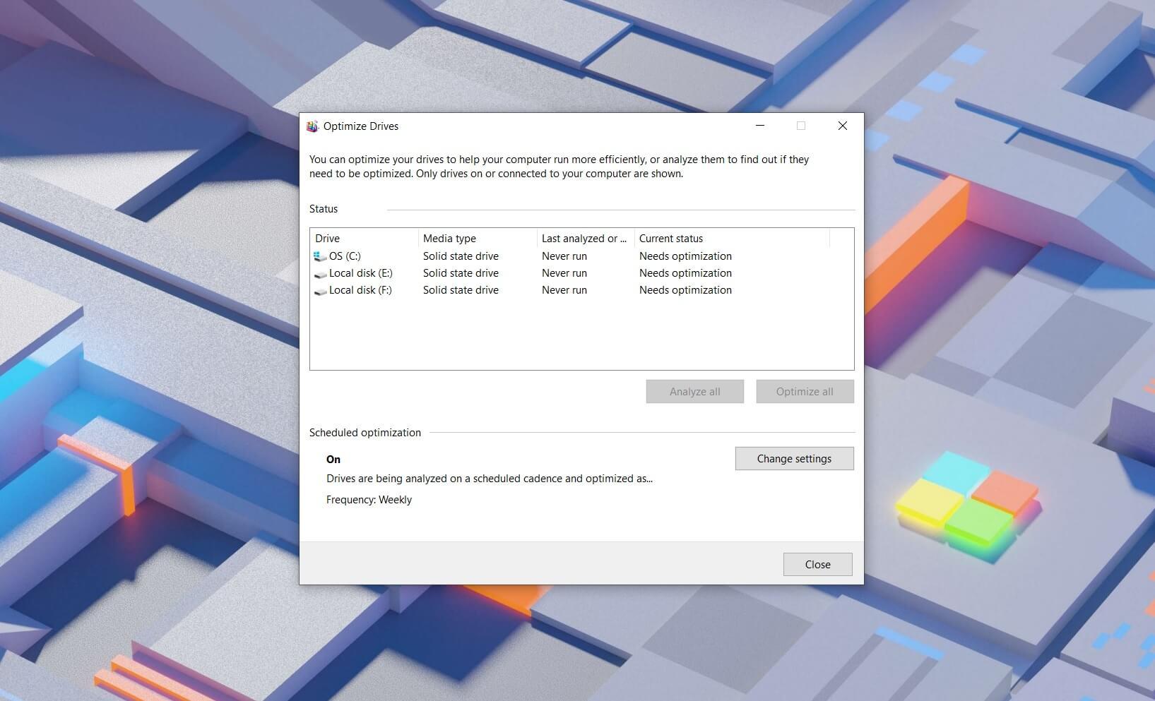 Windows 10 Defragment Tool