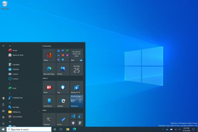 Windows 10 Fluent Start Menu