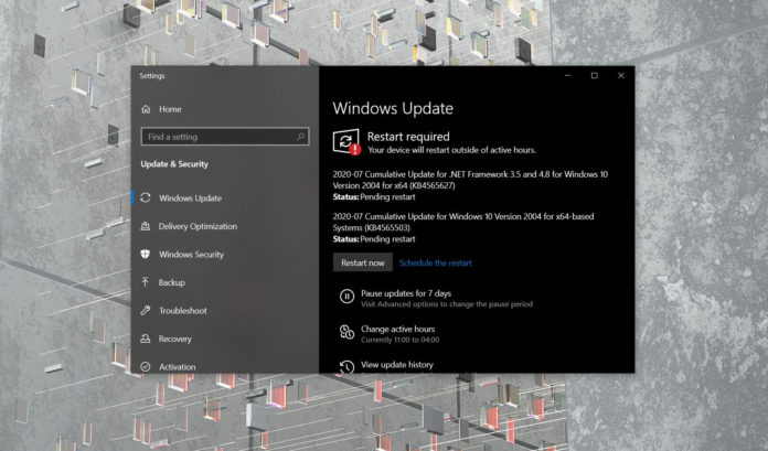 Windows 10 July 2020 Update